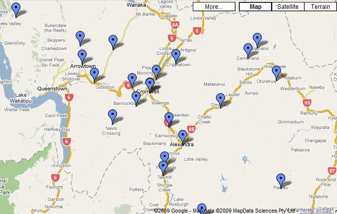 Goldfields Heritage Trail google map
