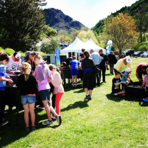 The National Gold Panning Championships are held each year as part of the Arrowtwon Autumn Festival